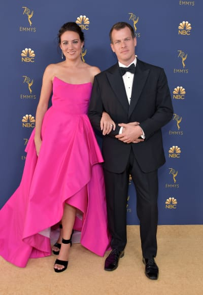 Lisa Joy and Jonathan Nolan at Emmy Awards