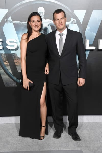 Lisa Joy and Jonathan Nolan Pose at Westworld Event