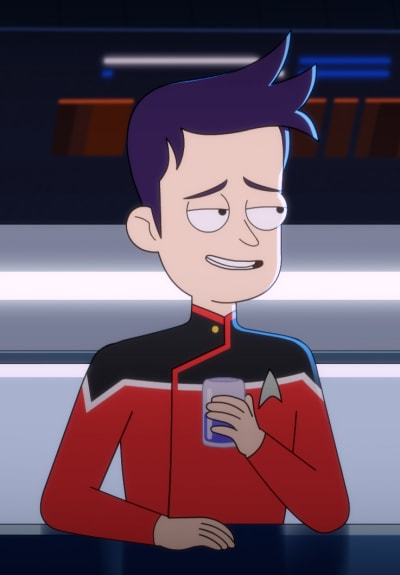 Boimler with a Drink - Star Trek: Lower Decks Season 1 Episode 10