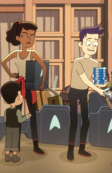Handing out Art Supplies - Star Trek: Lower Decks Season 1 Episode 10