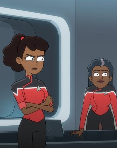 Irate Daughter and Mom - Star Trek: Lower Decks Season 1 Episode 10