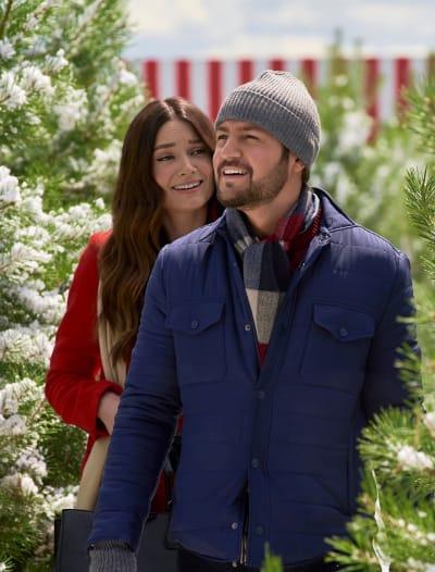 Aidan and Jennifer in the Tree Lot