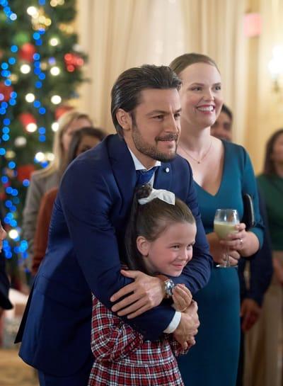 Aidan Hugs His Niece