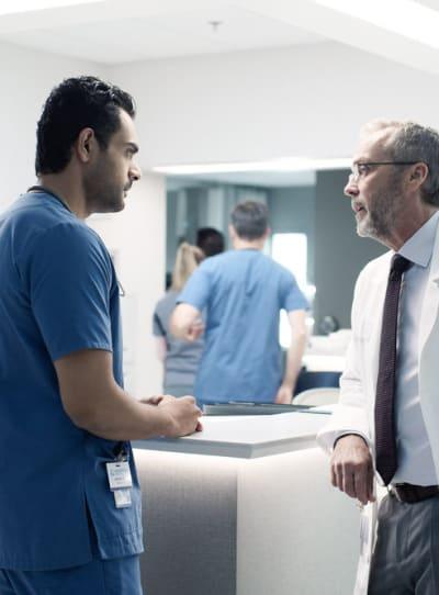 Bishop and Bash Discuss The Romero Case - Transplant Season 1 Episode 8