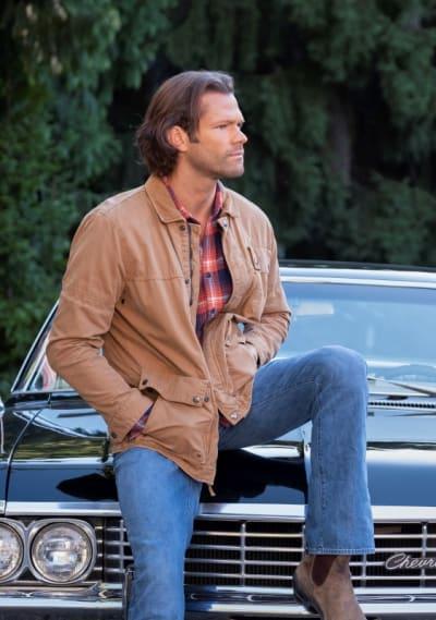 Sam and Baby - Supernatural Season 15 Episode 20