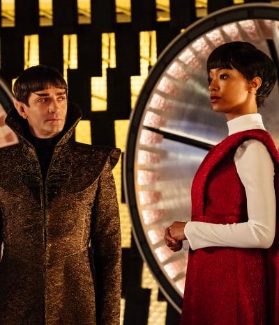 Sarek and Burnham - Star Trek: Discovery Season 1 Episode 2