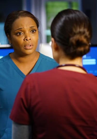 Talking to Maggie - Chicago Med Season 5 Episode 13