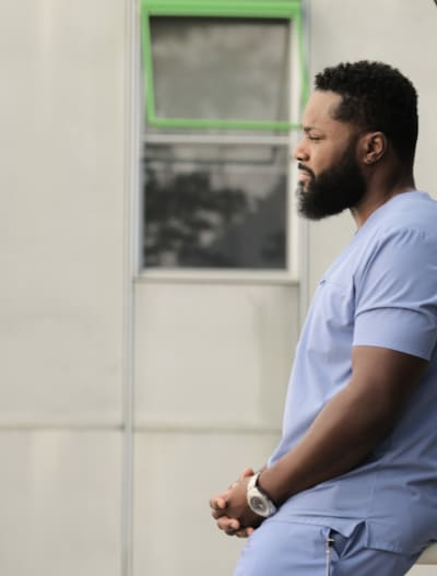AJ Conflicted - Tall - The Resident Season 4 Episode 2