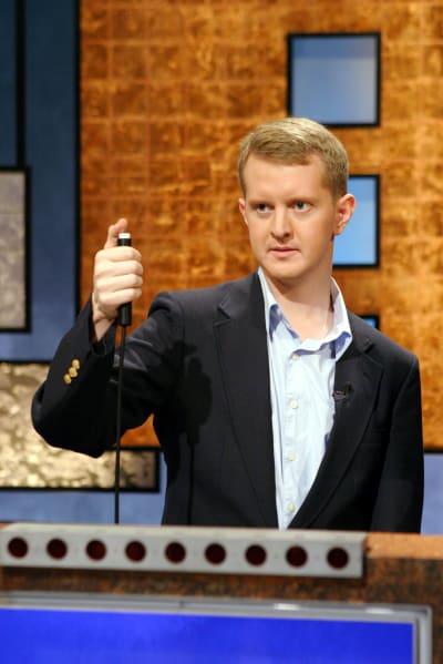 Ken Jennings Poses on Jeopardy