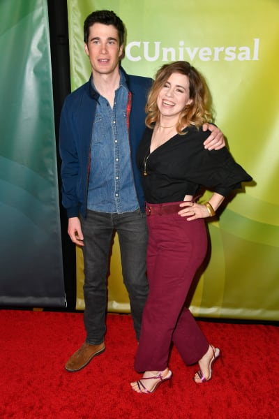 Levi Fiehler and Alice Wetterlund attend the 2020 NBCUniversal Winter Press Tour 45  - Resident Alien