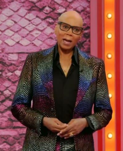 Holographic Suit - RuPaul's Drag Race Season 13 Episode 8