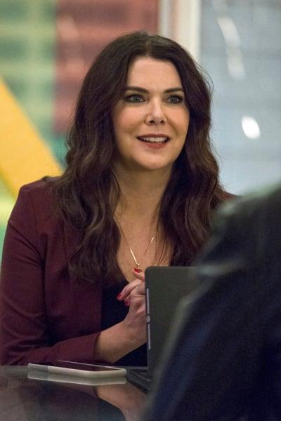 Joan in a meeting - Zoey's Extraordinary Playlist Season 1 Episode 12