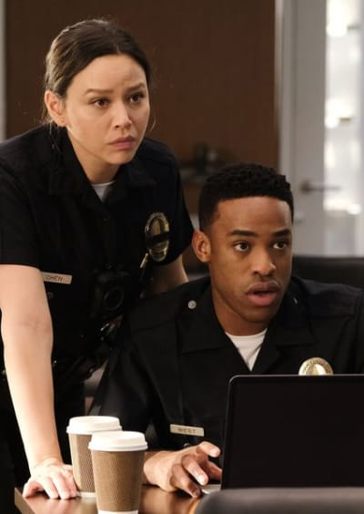 Lucy and Jackson Worry - The Rookie Season 2 Episode 19