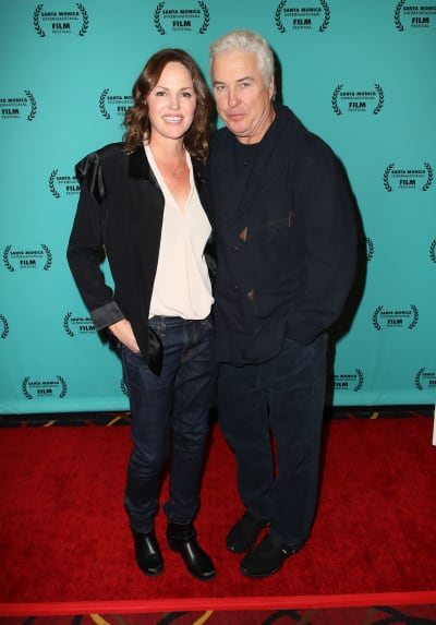William Petersen and Jorja Fox