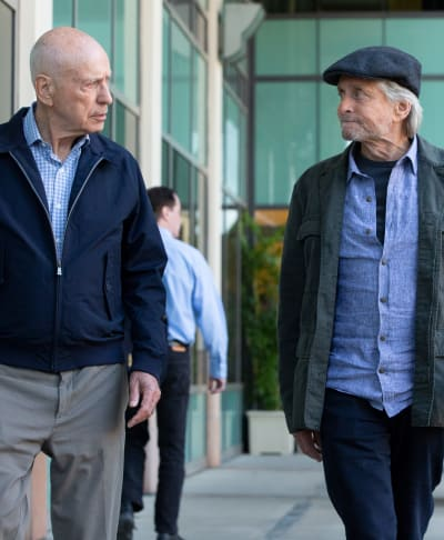 Alan Arkin and Michael Douglas on The Kominsky Method