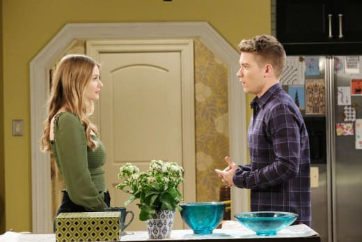 Allie Tries to Protect Tripp - Days of Our Lives