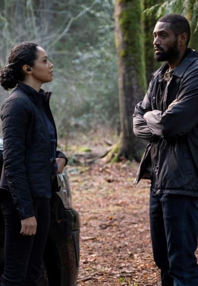 Conversing in the Woods - Debris Season 1 Episode 6