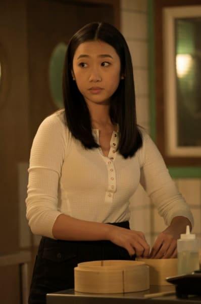 Nicky Shen in restaurant - Kung Fu Season 1 Episode 4