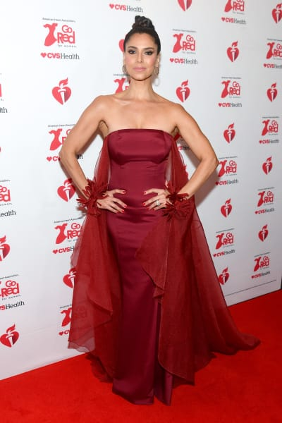 Roselyn Sanchez attends The American Heart Association's Go Red for Women Red Dress Collection 2020