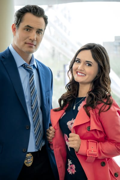 Victor Webster and Danica McKellar in Art of the Kill