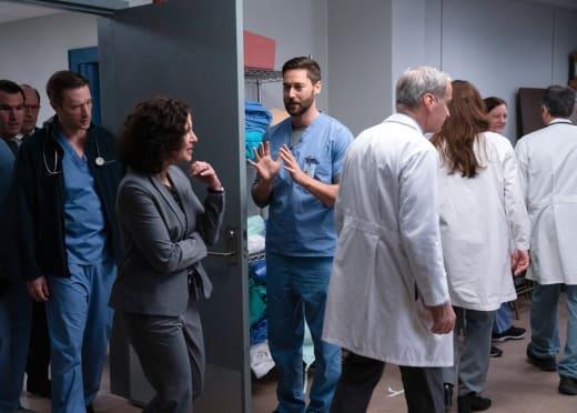 White Doctor Meeting  - New Amsterdam Season 3 Episode 6