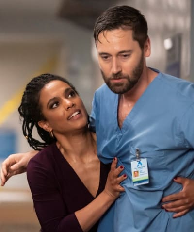 Helen Supports Max - tall - New Amsterdam Season 3 Episode 12