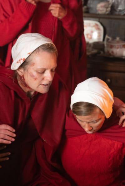 June and a handmaid on the farm - The Handmaid's Tale Season 4 Episode 1