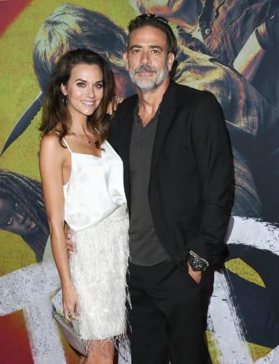 "Hilarie Burton and Jeffrey Dean Morgan attend the Special Screening Of AMC's ""The Walking Dead"" Season 10"