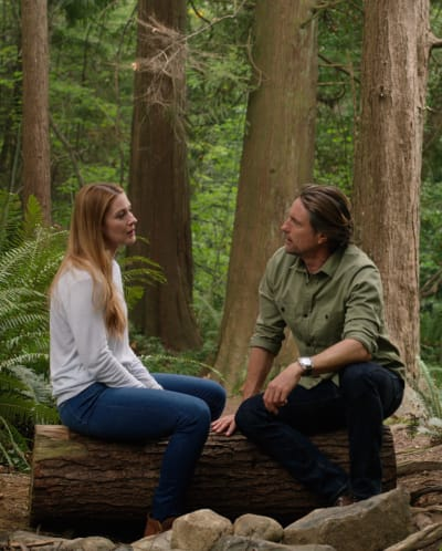 Conversation in the Woods - tall - Virgin River Season 3 Episode 3