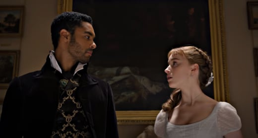 Daphne and Simon on Bridgerton